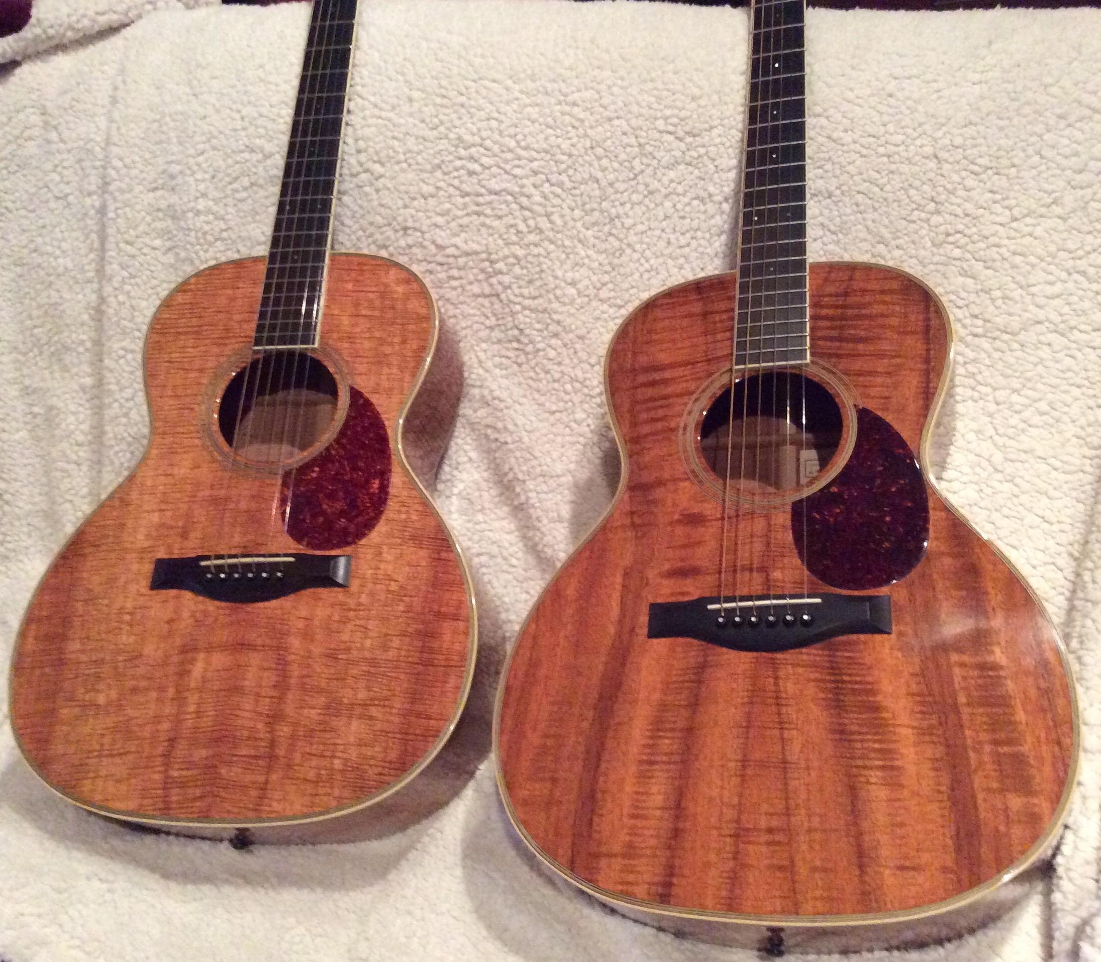 2 SCGC H guitars - all koa