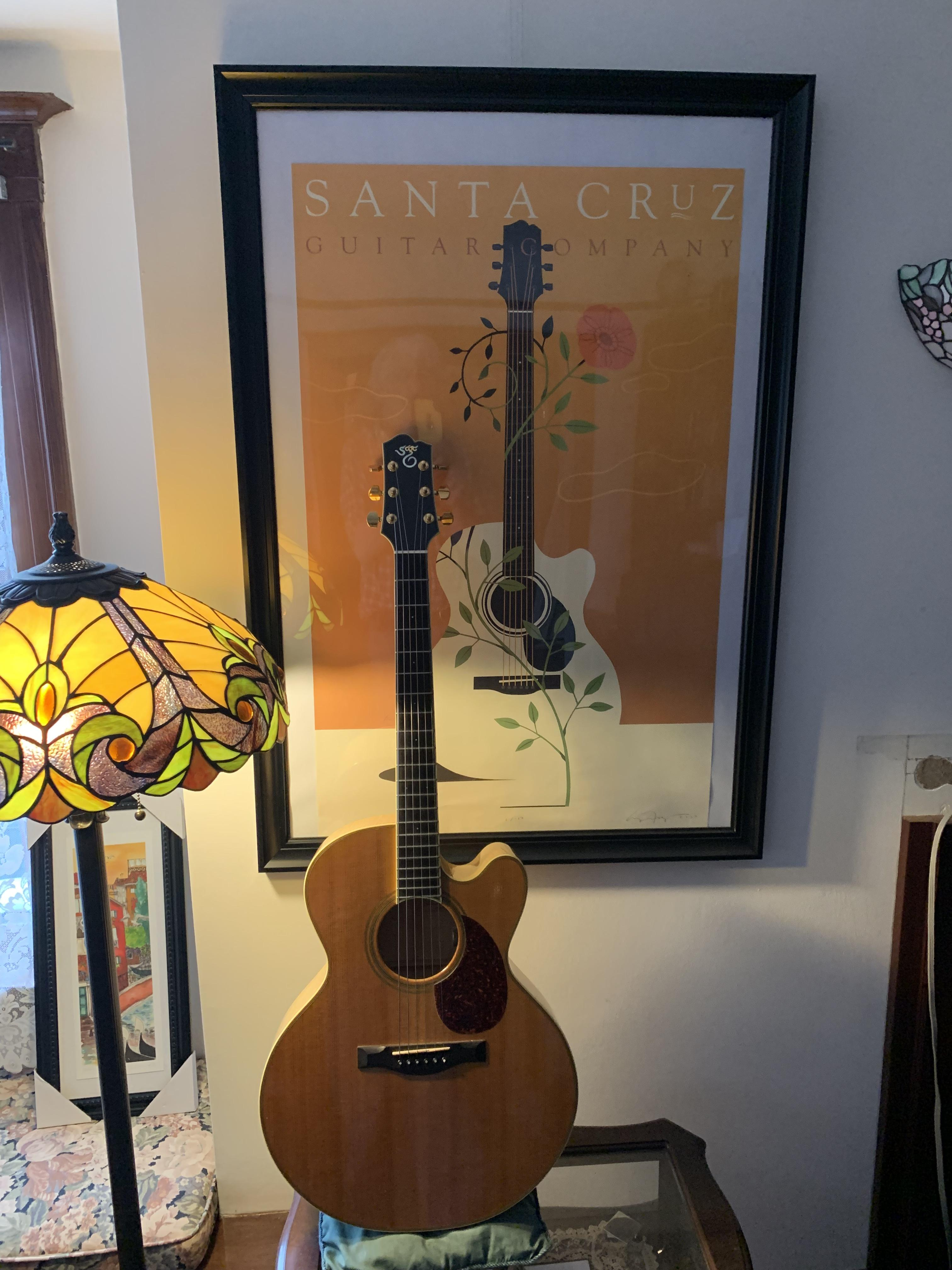 Guitar and poster